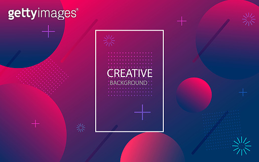 Abstract background with geometric gradient circle. Design abstract pattern with color circles, dots. vector