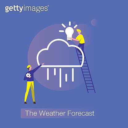 The weather forecast illustration