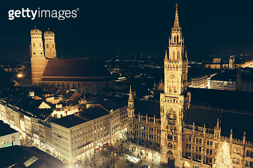 Marienplatz christmas night