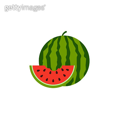 watermelon icon isolated on white background. Vector illustration.