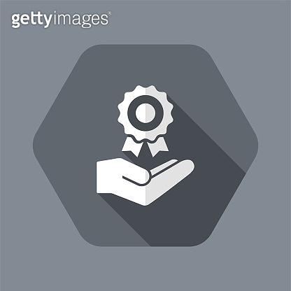 Certification service - Vector web icon