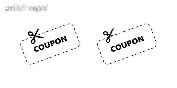 Icon Discount Coupons. Coupon vector icons. Coupons icons for web design