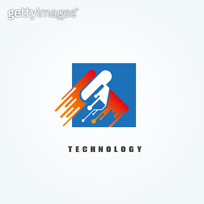 T creative letter,Technology icons