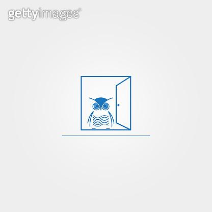 owl icon template, vector