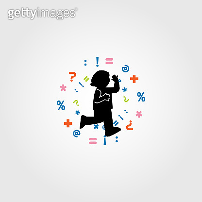 Child learning icon design