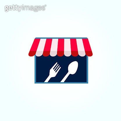 Food stall icon concept design