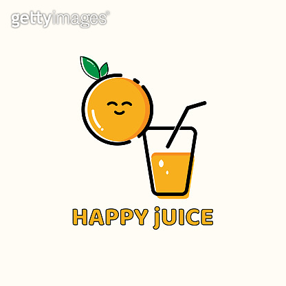 Drink icon concept design, orange juice
