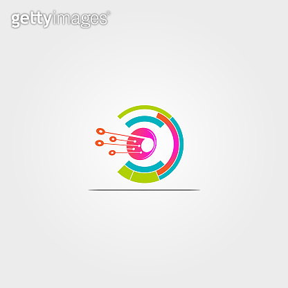 Technology icon template, vector