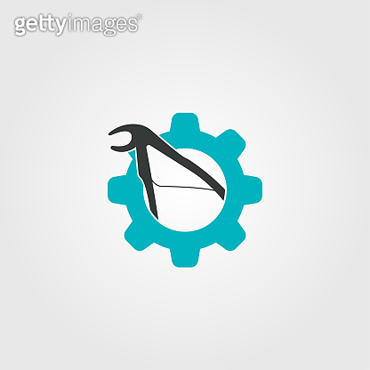 dentist icon with tool concept