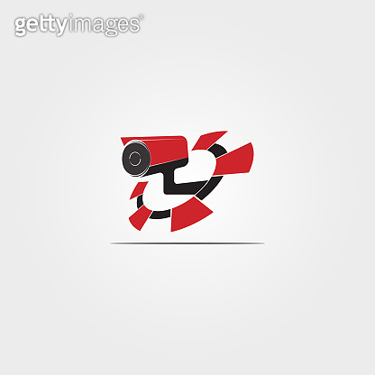 Security camera Technology icon template,vector