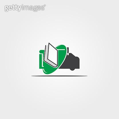 Automobile library icon template,vector