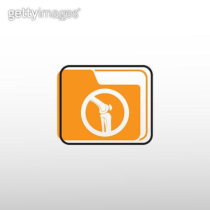 knee bone vector icon