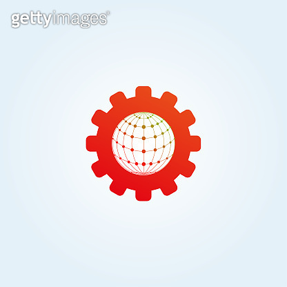 Global sharing icons template, vector design technology for business corporate, element, illustration