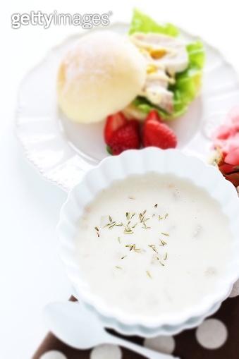Homemade cream mushroom soup