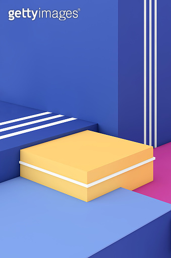 Abstract geometric composition with vibrant colors