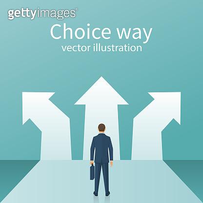 Choice way concept.