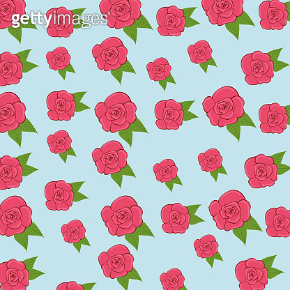 exotic roses plants with leaves background