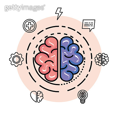 health brain with creative and intelligence memory
