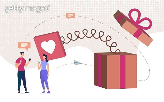 Declaration in Love in Mobile Messenger Vector