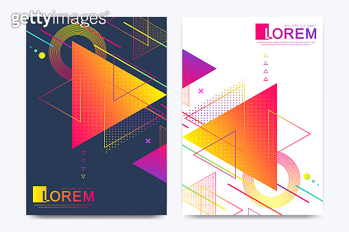 Modern vector template for brochure, Leaflet, flyer, advert, cover, banner, catalog, magazine or annual report. Abstract triangle background texture design poster, Bright stripes and vector shapes.