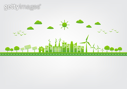 Green city, World environment and sustainable development concept, vector illustration
