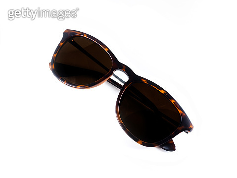 Brown glasses in a classic style. Sunglasses