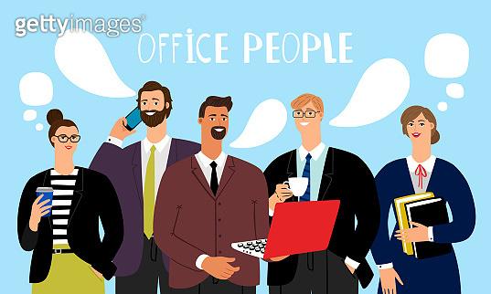 Office people talking