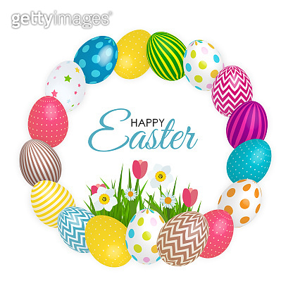 Abstract Happy Easter Template Holiday Background Vector Illustration