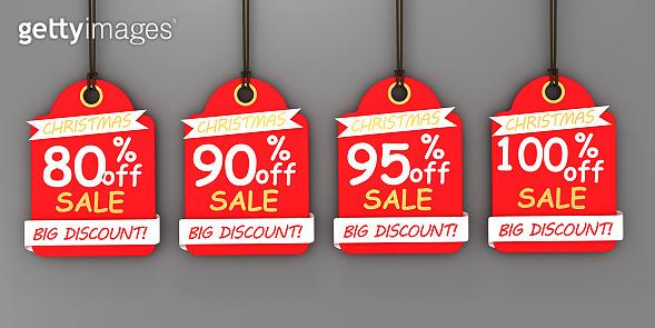 Christmas sale tags set for Christmas season