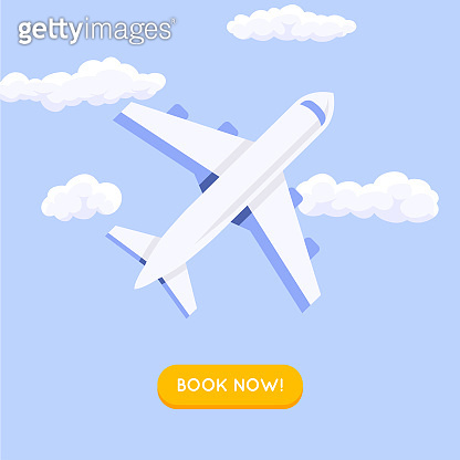Online booking ticked. Buy Ticket Online. Traveling on airplane, planning a summer vacation, tourism and journey objects and passenger luggage.