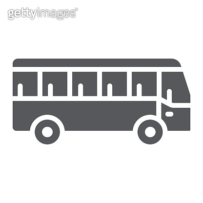 Bus glyph icon, transport and transportation, traffic sign, vector graphics, a solid pattern on a white background.