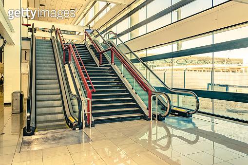 Mechanical Stairway Interior Scene