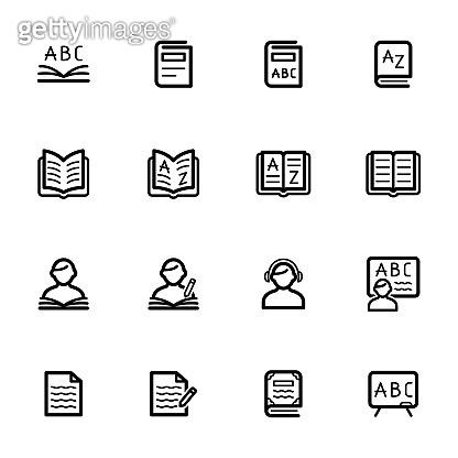 Language Study, Linguistics Icons - Set 1