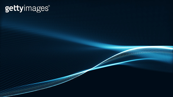 Technology digital wave background concept.