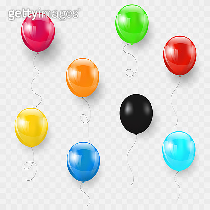 Set balloons isolated. Celebration party banner.