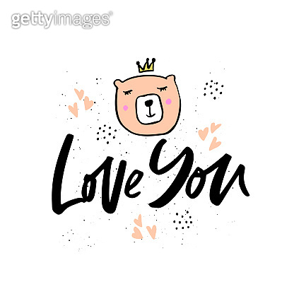 Love you hand drawn lettering
