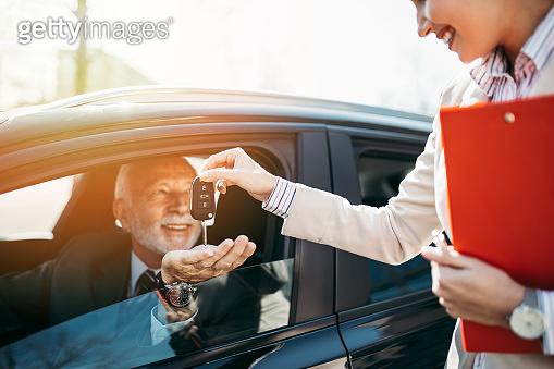 Car dealership.