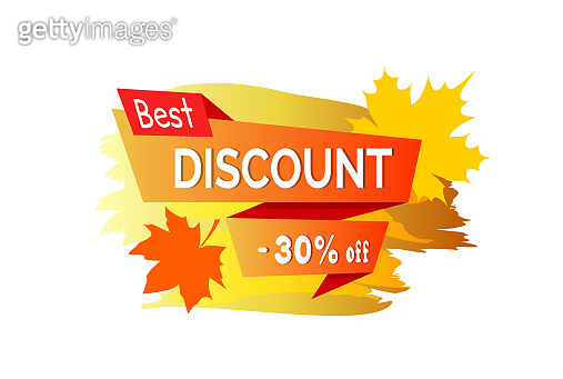 Best Discount -30% Off Placard Vector Illustration
