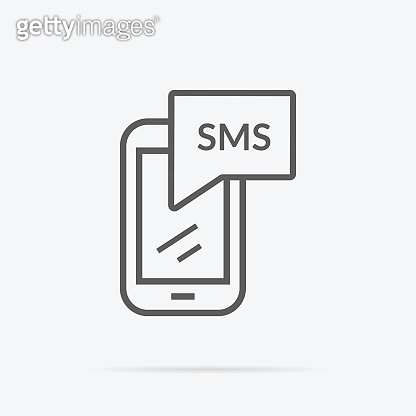 Simple Messaging Icon Illustration in Flat Design.