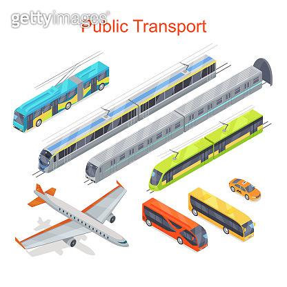 Transport Infographic. Public Transport. Vector