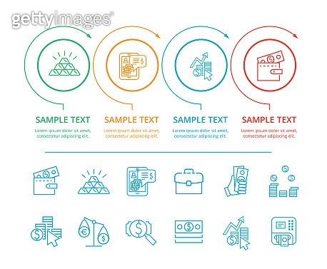Infographic Commerce and Text Vector Illustration