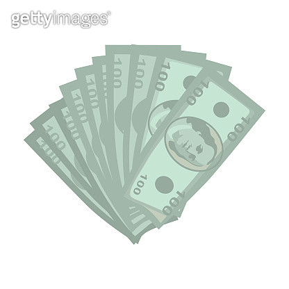 Money Vector Illustration in Flat Style Design.
