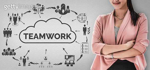 Teamwork and Business Human Resources Concept