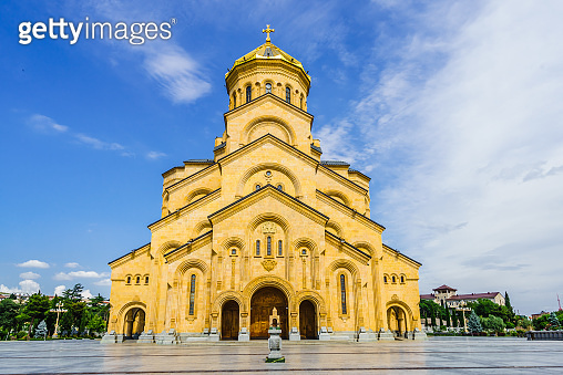 View on The Holy Trinity Cathedral of Tbilisi in Georgia