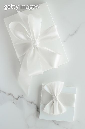Luxury wedding gifts on marble