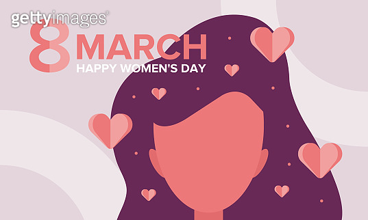 Happy Women's Day. International holiday of female solidarity, which is celebrated on March 8