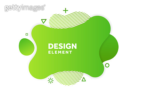 Unique abstract graphic elements. Eco banner with a gradient shape. Design template for presentation or flyer. Abstract forms green dynamic composition. Minimal mesh background. Modern style vector