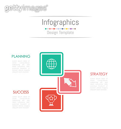 Infographic design elements for your business data with 3 options, parts, steps, timelines or processes. Vector Illustration.