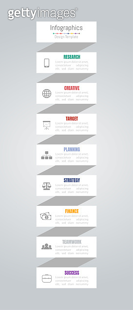 Infographic design elements for your business data with 8 options