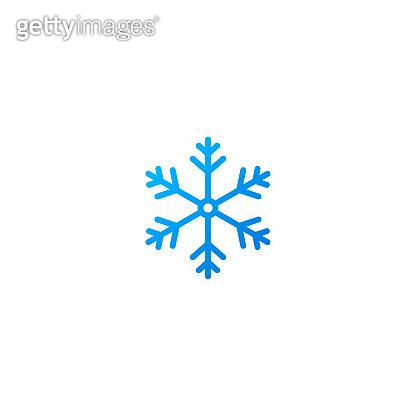 Snowflake vector icon flat style